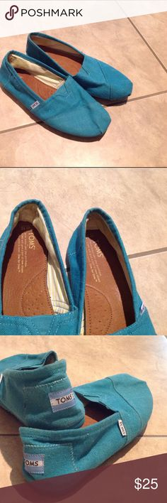 TOMS shoes EUC. Gently worn.  The hidden spot that shown in last pic. TOMS Shoes Flats & Loafers