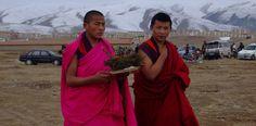 Tibetische Mönche.