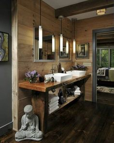 Zen bathroom   onekindesign.com #zen #bathroom #homesweethome #buddha #homeinspiration #homeinspo #homeinterior #homedesign #homedecor #interiordesign #interiordecor #dreamhouse #dreamhome #luxurylife #luxuryhomes #luxurydesign #luxurydecor #luxury #interiordetails #house #architecture #interior #design #decor #home - Architecture and Home Decor - Bedroom - Bathroom - Kitchen And Living Room Interior Design Decorating Ideas - #architecture #design #interiordesign #homedesign #architect