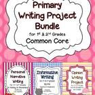 This bundle of three primary writing projects meets Common Core Standards. Personal narrative, informative, and opinion writing is covered. Each pr...