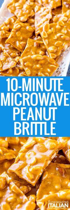Brittle Recipes, Fudge Recipes, Candy Recipes, Sweet Recipes, Holiday Recipes, Dessert Recipes, Microwave Recipes, Cooking Recipes, Microwave Peanut Brittle