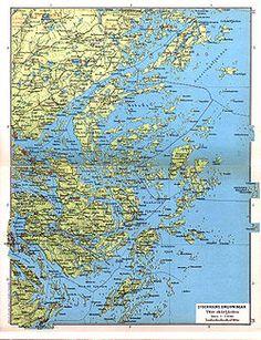 Stockholm archipelago - about 30-35,000 islands.