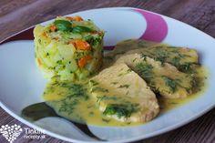 Bravčové rezne naprírodno, kôprová dijon omáčka a brokolicové zemiaky Food 52, Fresh Rolls, Guacamole, Zucchini, Ale, Menu, Mexican, Chicken, Vegetables