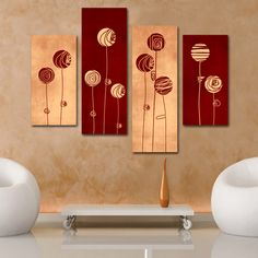 Pasi simpli in decorarea cu tablouri abstracte