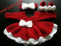 Red and White Baby Girl Crochet Dress with Headband , Christmas Crochet Baby Dress Crochet Dress Girl, Baby Girl Crochet, Baby Blanket Crochet, Baby Girl Dresses, Baby Dress, Baby Girls, Flannel Baby Blankets, Baby Outfits Newborn, Handmade Baby