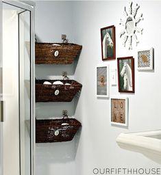rangement salle de douche
