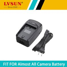 LVSUN 1.2-8.4V  800mA with USB Car Digital Camera Charger+ Battery plate/Car plug/AC Cord for Canon Nikon EL12 battery