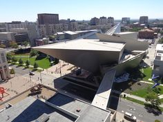 Panoramic view of the Frederic C. Hamilton Building
