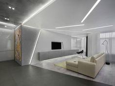 Dark Themed Interiors: Using Grey Effectively For Interior Design House Ceiling Design, Ceiling Design Living Room, Ceiling Light Design, Home Room Design, Living Room Designs, Design Bedroom, Bedroom Decor, Clinic Interior Design, Modern Interior Design