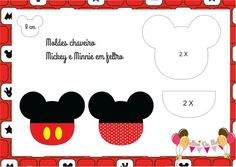 Chaveiros Mickey