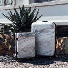 TRAVEL OBSESSION: CALPAK Astyll Luggage collection in patent pending Milk Marble. #marblemadness