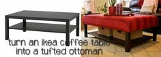 Hacking the Lack into an upholstered ottoman - IKEA Hackers
