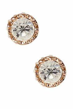 Beautiful sparkling stud earrings.