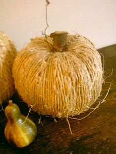That's a wrap! Give new life to tired old pumpkins this Fall - Jute Wrapped Pumpkins.