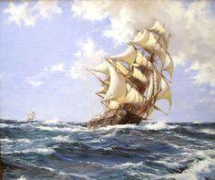 Montague Dawson. Clippership in the High Seas. J. Russell Jinishian Gallery, Inc.