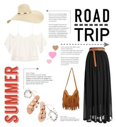 """""""Summer Road Trip"""" by monkichiluph ❤ liked on Polyvore featuring H&M, Ancient Greek Sandals and roadtrip"""