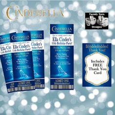 Cinderella Invitation, Cinderella Movie, Cindrella Movie Invite, Printables, Movie Party, Invitation, Disney Party Invite, Princess Party