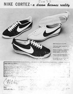 first #nike cortez ad 1972