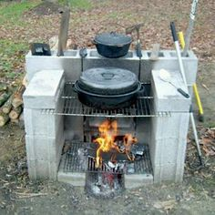 Easy built outdoor cooking spot