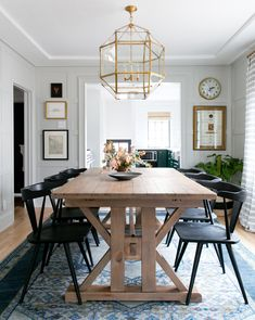 This modern farmhouse dining room by Studio McGee gets recreated for less by copycatchic luxe living for less budget home decor and design room redos - copycatchic Design Room, Dining Room Design, Dining Room Furniture, Dining Room Table, Dining Chairs, Light Wood Dining Table, Interior Design, Dining Area, Warm Dining Room