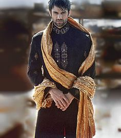 sherwani....liking the contrast