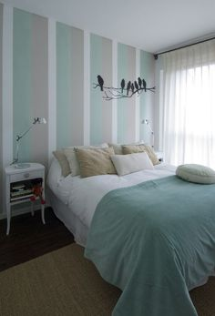 Romantic Bedroom Decor Ideas to Make Your Home More Stylish on a Budget - The Trending House Bedroom Paint Design, Bedroom Wall Designs, Bedroom Colors, Light Teal Bedrooms, Room Interior, Interior Design, Romantic Bedroom Decor, Diy Room Decor, Home Decor