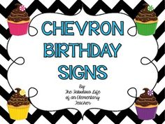 These birthday signs are a perfect addition to your chevron-themed classroom! They will definitely stand out :)  All you have to do is print, laminate, and fill in your students' birthday - it's as easy as that!   If you have any questions, please contact me at fabulouslifeofateacher@gmail.com  Thanks!!