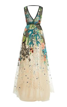 Bead Embroidered Tulle Gown by Elie Saab | Moda Operandi