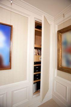 Adding a hidden storage closet in your office! brilliant!