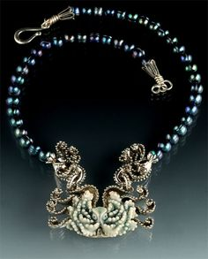 Porcelain Octopus Necklace - stunning!