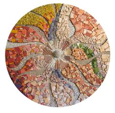 antonella zorzi mosaics I love the colors and textures. If I had my way, much of my home would be embellished with mosaics like this. Mosaic Tile Art, Pebble Mosaic, Mosaic Diy, Mosaic Garden, Mosaic Crafts, Stone Mosaic, Mosaic Glass, Stained Glass, Mosaic Designs