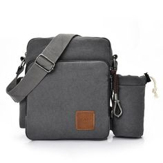 4c5dc981813b Multifunctional Canvas Crossboby Bag Solid Casual Women Men Sling Bag   Casual  Women  Crossboby