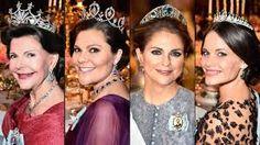 Dronningen, kronprinsessen og to prinsesser av Sverige . 10.12.2015