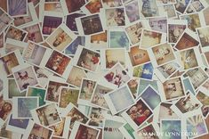 pile of polaroid on bed - Google Search