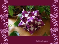 Origami ✿⊱╮ Frau Marta ✿⊱╮ Kusudama - YouTube