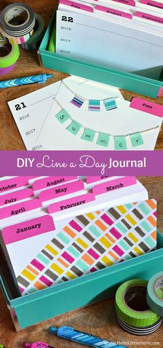 This DIY Line a Day Journal is super fun to make and is a great gift idea! | Hello Little Home #CraftAmazing