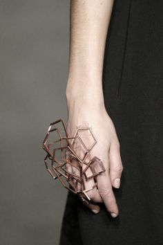 Sculptural Hand Adornment - wearable art, contemporary jewellery design // Who Fall 2015