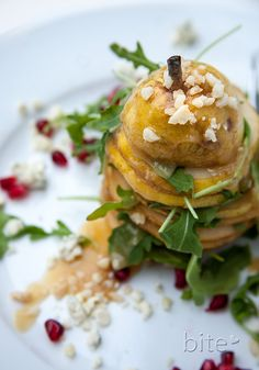 Pear and Gorgonzola Salad with Salted Caramel Vinaigrette