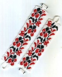 """Украинский браслет """"Орхидеи"""""""