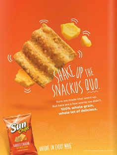 Sun Chips, Wall Design, Cheddar, Ads, Food, Cheddar Cheese, Eten, Meals, Diet