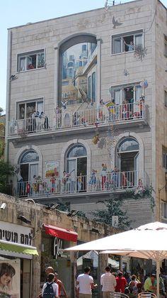 Trompe L'oeil Murals | Trompe-l'œil mural on Ben Yehudah Street, Jerusalem | Flickr - Photo ...