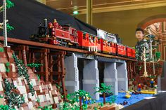 Thomson River bridge | Flickr - Photo Sharing! Lego Trains, Lego Modular, Lego Harry Potter, Legoland, Lego Creations, Lego City, Legos, Creative Art, River