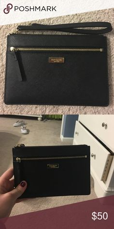 Super cute Kate spade wrislet 💕 It's NWOT worn once. Perfect for a girls night! Has 2 pockets. Has 4 card holders in the main pocket. If you have any  questions let me know!! Thanks kate spade Accessories