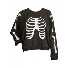 Wildfox Skeleton Pullover Black found on Polyvore
