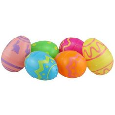 Easter Printed Plastic Egg Containers Brand New in Packaging 6 count