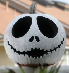 Jack Skellington pumpkin | #Halloween #Decor