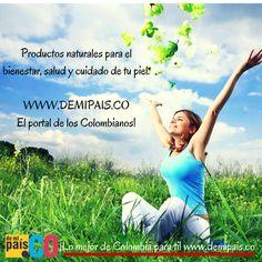 Productos naturales para el bienestar y cuidado de tu cuerpo  Encuéntralos en:   WWW.DEMIPAIS.CO   Demipais.CO el portal de los Colombianos!    http://www.demipais.co/bienestar/   #ColombiaTierraQuerida #ColombianocompraColombiano #DeColombia #ProductosColombianos #SoloColombiano #DemipaisCO #CompraLocal #ChevereComprarColombiano  #Colombianos  #ProductosNaturales #Bienestar #Salud