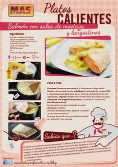 #Salmon con mostaza y langostinos #