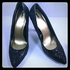 Mossino at Target sparkly sequin shoes size 9 Never been worn. These shoes are cute and fun. They are not leather. Mossimo Supply Co Shoes Heels