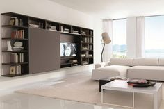 meuble-tv-bibliotheque-bois-salon-moderne-canape-angle-blanc-neige-tapis-beige